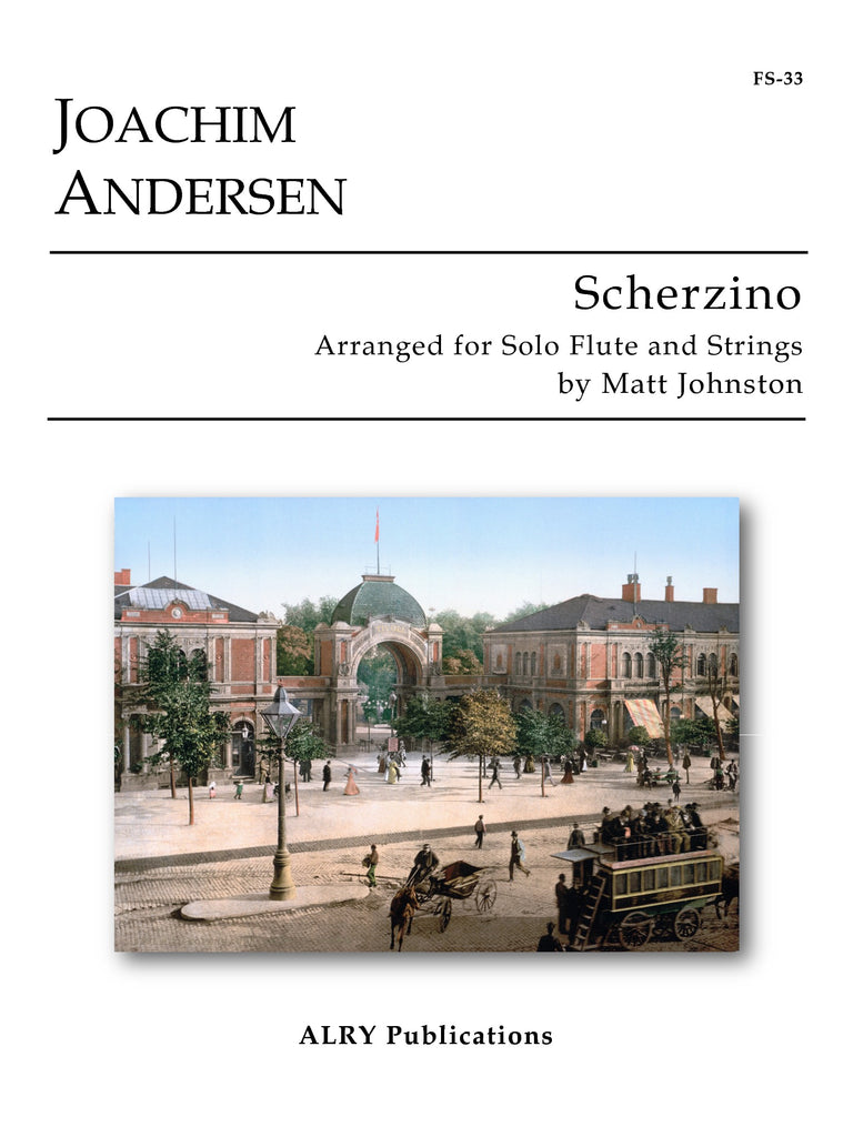 Andersen (arr. Johnston) - Scherzino, Op. 55, No. 6 (Solo Flute and Strings) - FS33