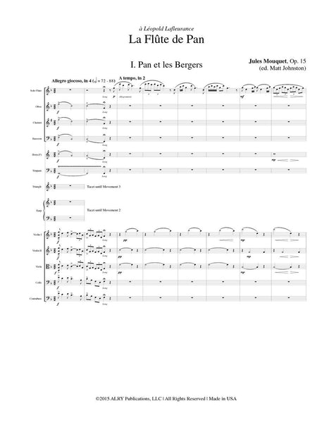 Mouquet (arr. Johnston) - La Flute de Pan (Score Only) - FS18S