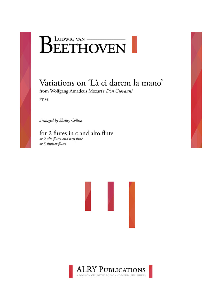 Beethoven (arr. Collins) - Variations on 'La ci darem la mano' for Flute Trio - FT35