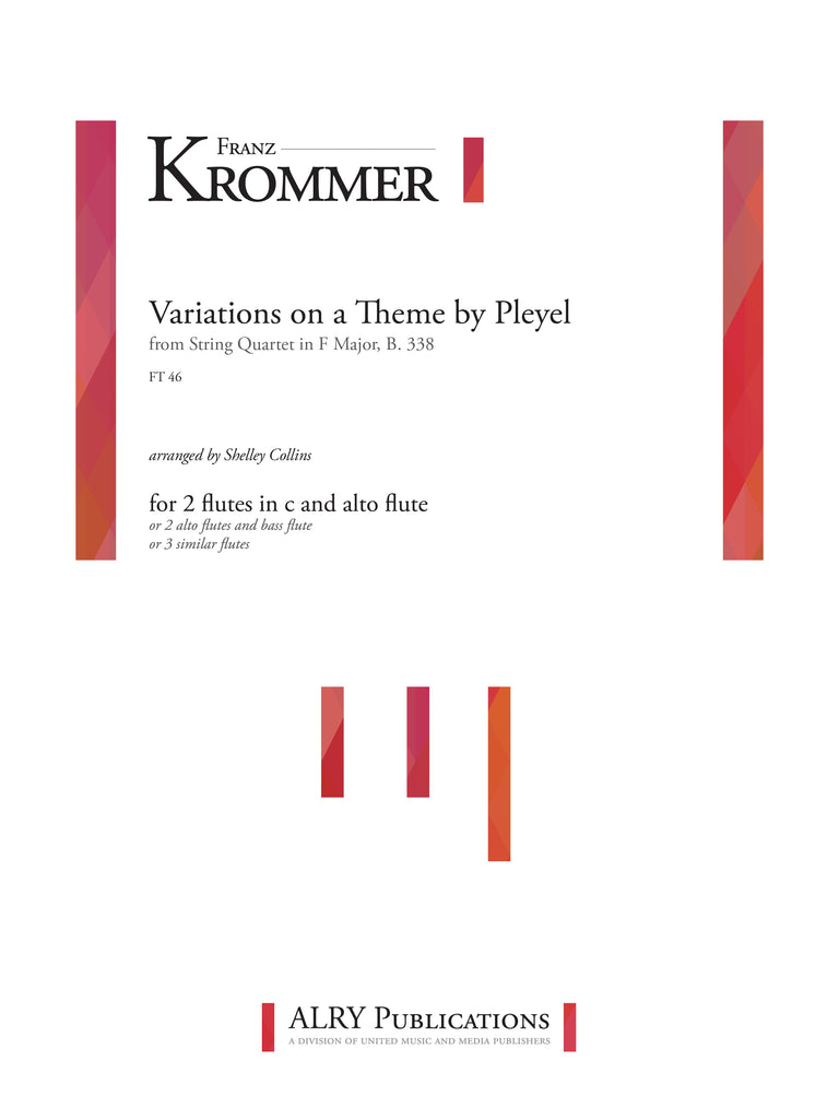 Krommer (arr. Collins) - Variations on Theme by Pleyel for Flute Trio - FT46