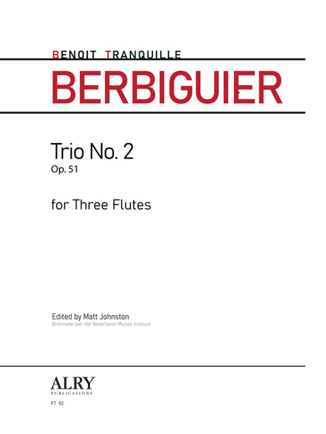 Berbiguier (ed. Johnston) - Trio No. 2, Op. 51 - FT52