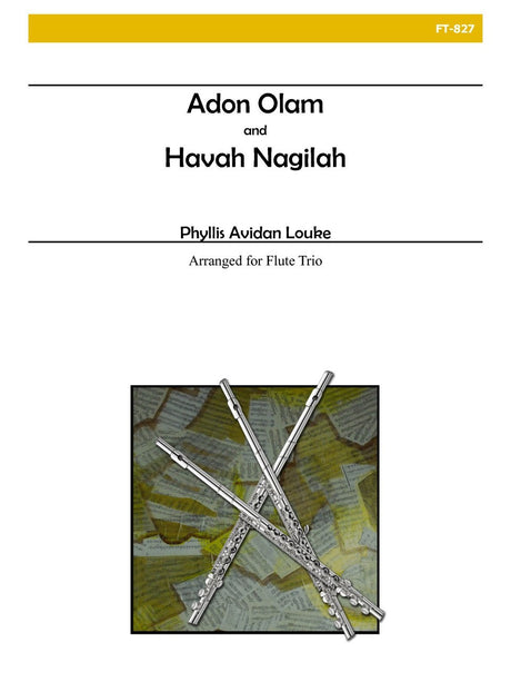 Louke - Adon Olam and Havah Nagilah (Flute Trio) - FT827