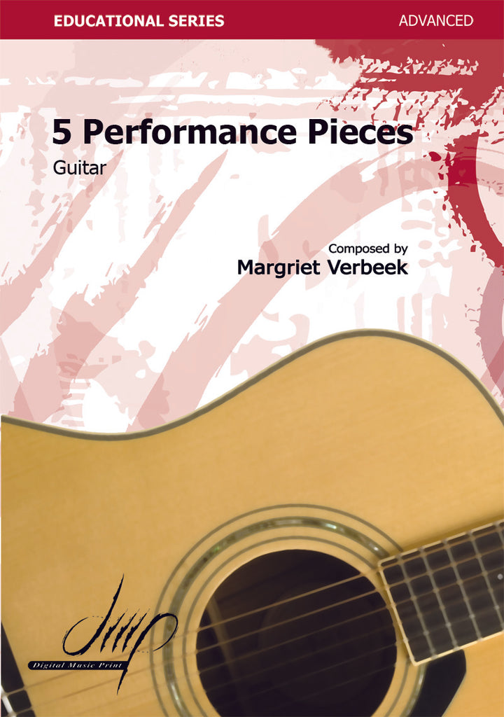 Verbeek - 5 Performance Pieces for Guitar - G118088DMP