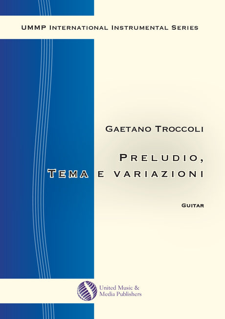 Troccoli - Preludio, Tema con variazioni for Guitar - G200107UMMP