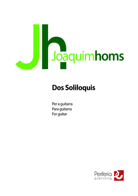 Homs - Dos Soliloquis for Guitar - G3585PM