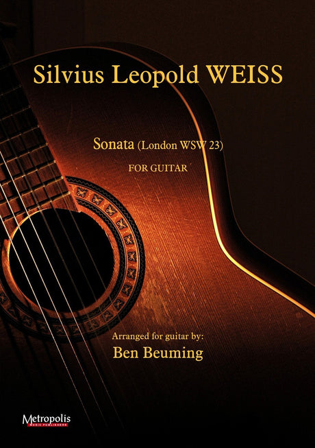 Weiss - Sonata XVII (London nr.23) for Guitar - G6764EM
