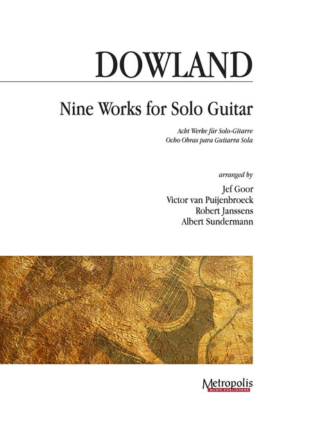 Dowland (arr. Van Puijenbroeck) - Eight Works for Solo Guitar - G7361EM