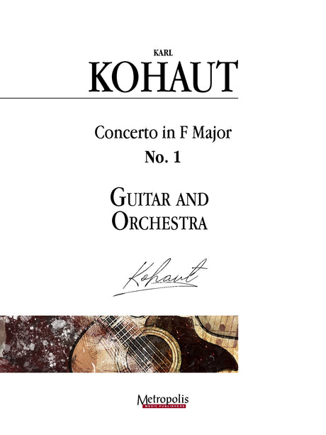 Kohaut (arr. Van Puijenbroeck) - Concerto in F Major, No. 1 for Guitar and Orchestra - GOR14009AEM