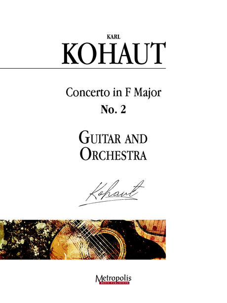 Kohaut (arr. Van Puijenbroeck) - Concerto in F Major, No. 2 for Guitar and Orchestra - GOR14017AEM