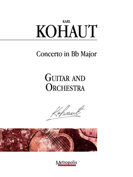 Kohaut (arr. Van Puijenbroeck) - Concerto in B-flat Major for Guitar and Orchestra - GOR14018AEM