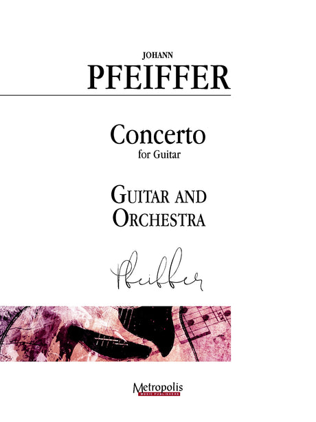 Pfeiffer (arr. Van Puijenbroeck) - Concerto for Guitar and Orchestra - GOR14019AEM