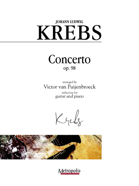 Krebs (arr. Van Puijenbroeck) - Concerto in F Major for Guitar and Piano - GP14008EM
