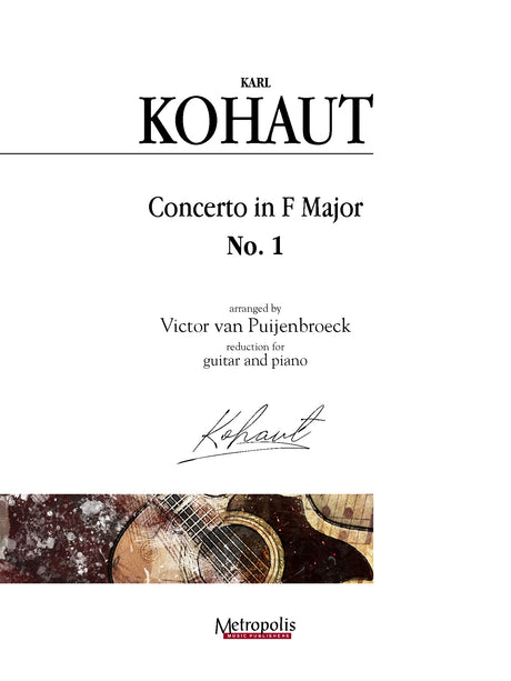 Kohaut (arr. Van Puijenbroeck) - Concerto in F Major, No. 1 for Guitar and Piano - GP14009EM