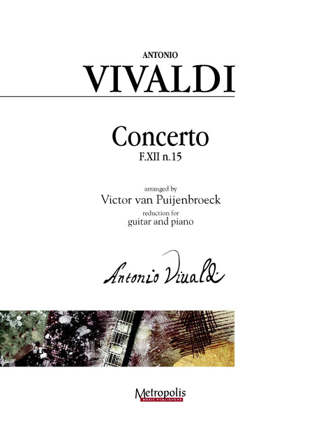 Vivaldi (arr. Van Puijenbroeck) - Concerto, F.XII n. 15 for Guitar and Piano - GP14011EM