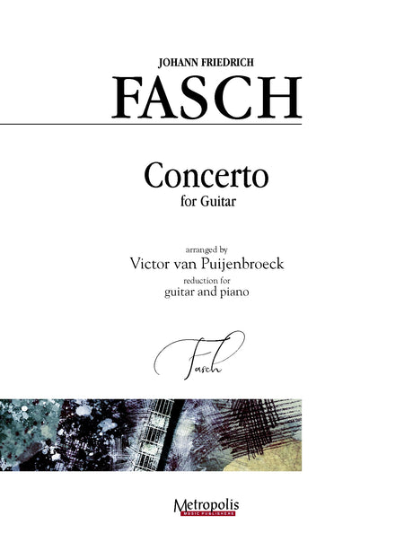 Fasch (arr. Van Puijenbroeck) - Concerto for Guitar and Piano - GP14015EM