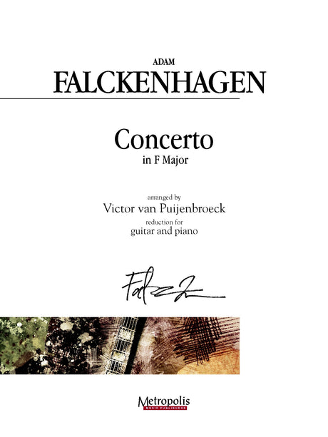 Falckenhagen (arr. Van Puijenbroeck) - Concerto in F Major for Guitar and Piano - GP14016EM
