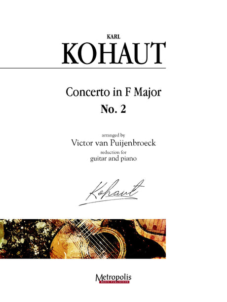 Kohaut (arr. Van Puijenbroeck) - Concerto in F Major, No. 2 for Guitar and Piano - GP14017EM