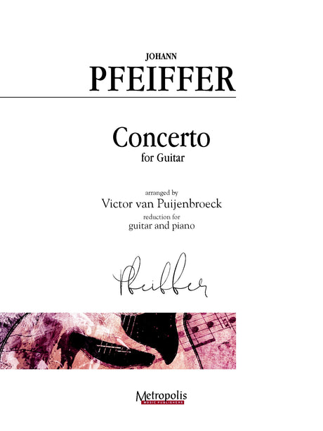 Pfeiffer (arr. Van Puijenbroeck) - Concerto for Guitar and Piano - GP14019EM