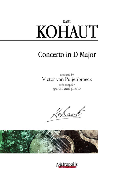 Kohaut (arr. Van Puijenbroeck) - Concerto in D Major for Guitar and Piano - GP14022EM