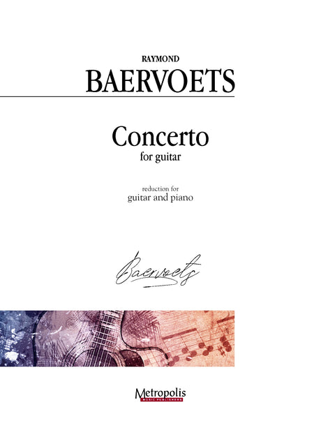 Baervoets - Concerto for Guitar (Piano Reduction) - GP4535EM