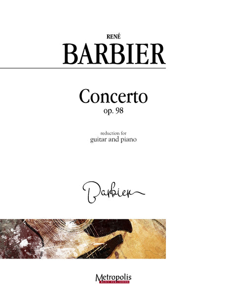 Barbier - Concerto for Guitar, Op. 98 (Piano Reduction) - GP4589EM