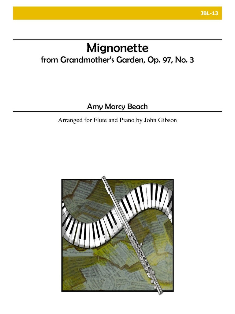 Beach - From Grandmother's Garden: Mignonette, Op. 97, No. 3 (Flute and Piano) - JBL13