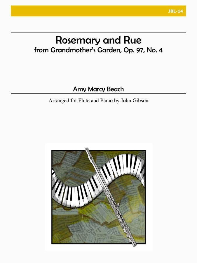 Beach - From Grandmother's Garden: Rosemary & Rue, Op. 97, No. 4 (Flute and Piano) - JBL14