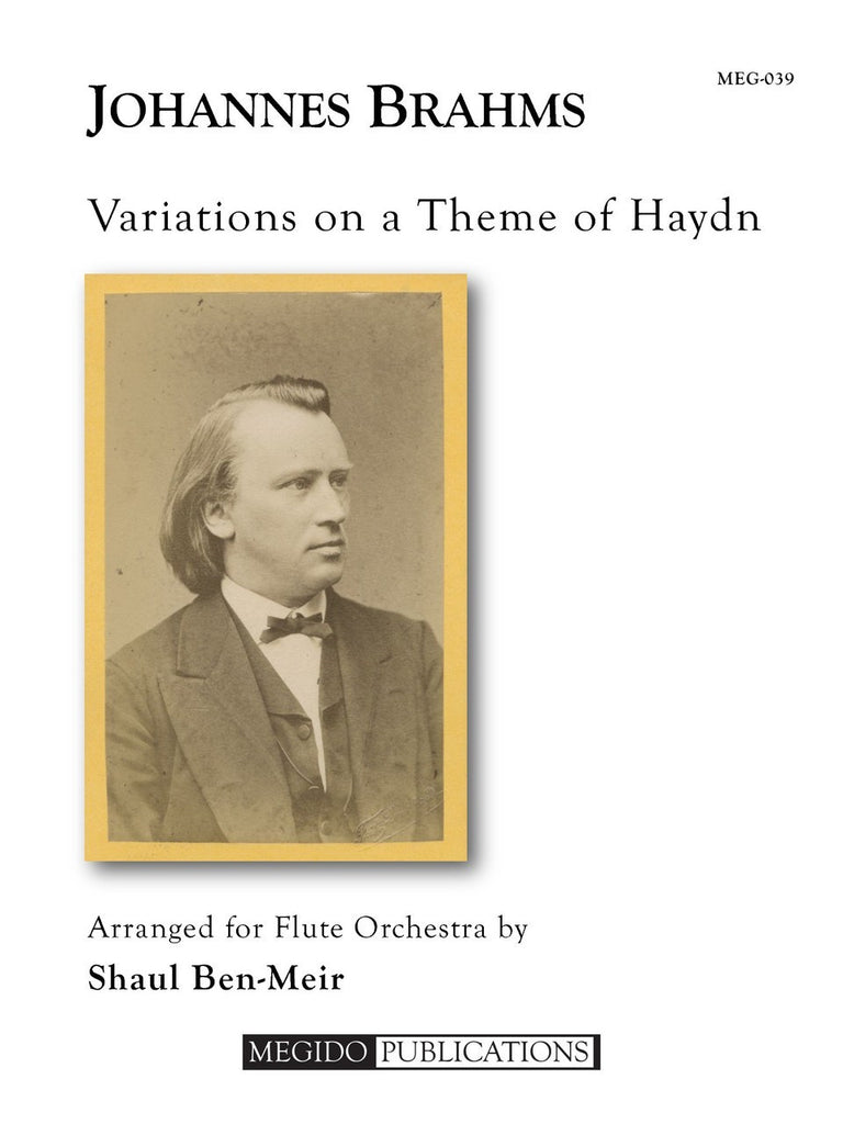 Brahms (arr. Ben-Meir) - Variations on a Theme of Haydn (Flute Orchestra) - MEG039