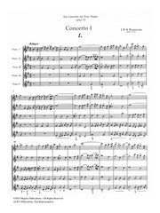 Boismortier - Six Concerti for Five Flutes, Op. 15, Volume 1 (#1-3) - MEG052