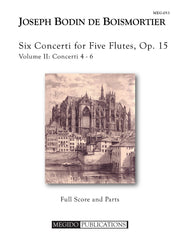 Boismortier - Six Concerti for Five Flutes, Op. 15, Volume 2 (#4-6) - MEG053