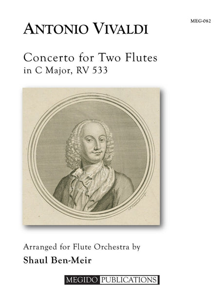 Vivaldi (arr. Ben-Meir) - Concerto for Two Flutes in C Major, RV 533 (Flute Orchestra) - MEG082