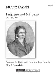 Danzi (arr. Ben-Meir) - Larghetto and Minuetto (Flute, Alto Flute and Bass Flute) - MEG083