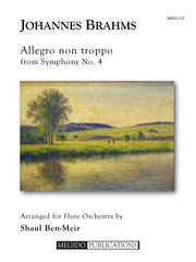 Brahms (arr. Ben-Meir) - Allegro Non Troppo from Symphony No. 4 (Flute Orchestra) - MEG117