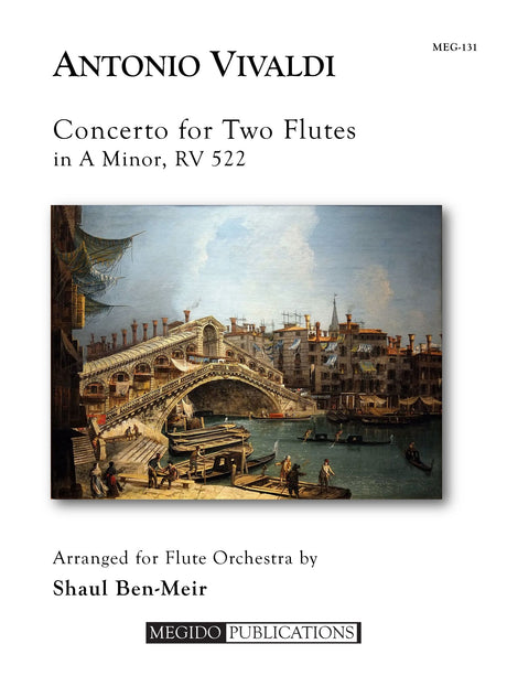 Vivaldi (arr. Ben-Meir) - Concerto for Two Flutes in A Minor, RV 522 (Flute Orchestra) - MEG131