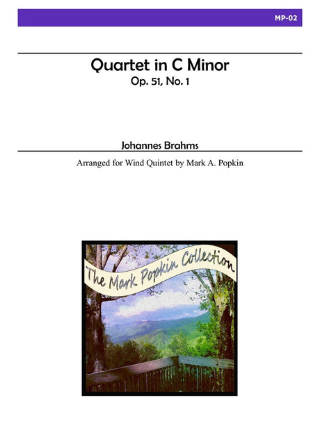 Brahms (arr. Popkin) - Quartet in C minor, Op. 51, No. 1 for Wind Quintet - MP02