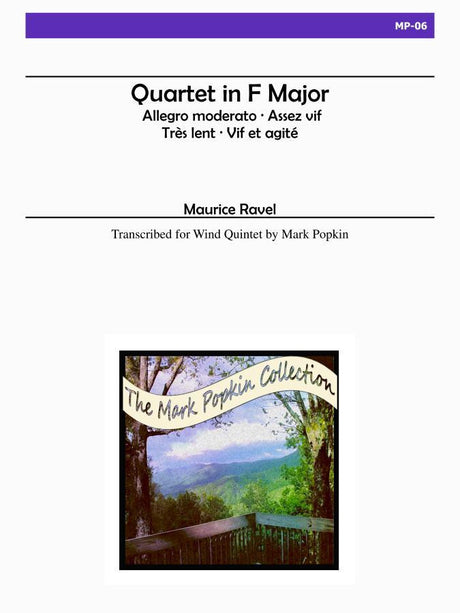 Ravel (arr. Popkin) - Quartet in F Major for Wind Quintet - MP06