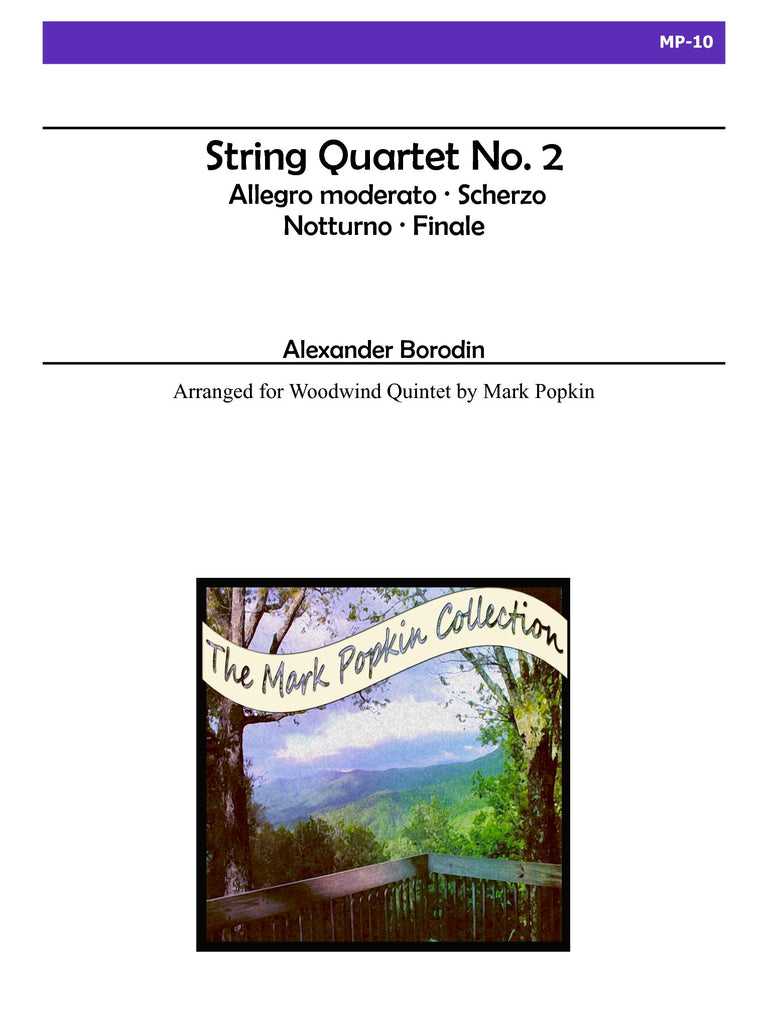 Borodin (arr. Popkin) - String Quartet No. 2 for Wind Quintet - MP10