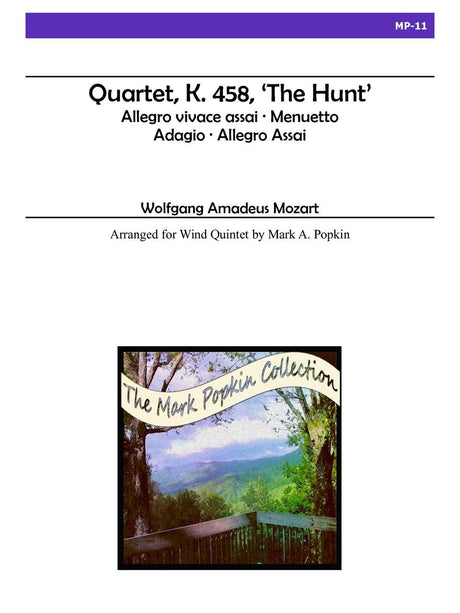 "Mozart (arr. Popkin) - Quartet, K. 458 ""The Hunt"" for Wind Quintet - MP11"