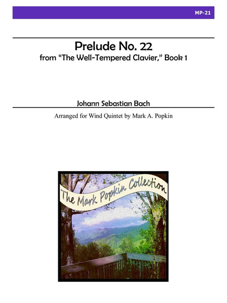 Bach (arr. Popkin) - Prelude No. 22 from 'The Well-Tempered Clavier', Book I for Wind Quintet - MP21