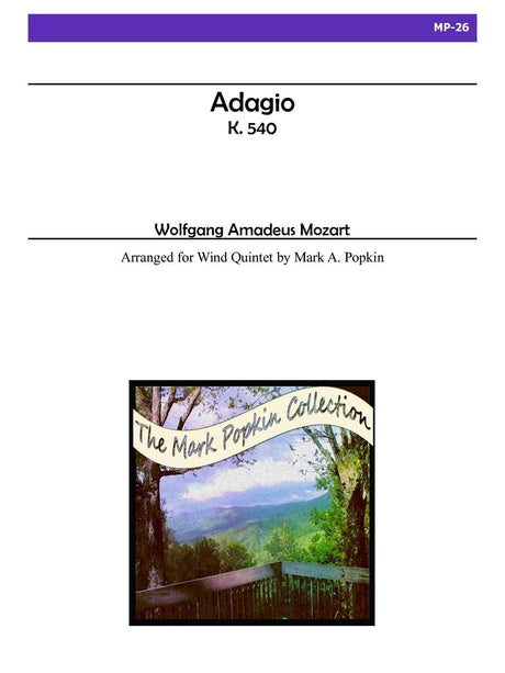 Mozart (arr. Popkin) - Adagio, K. 540 for Wind Quintet - MP26