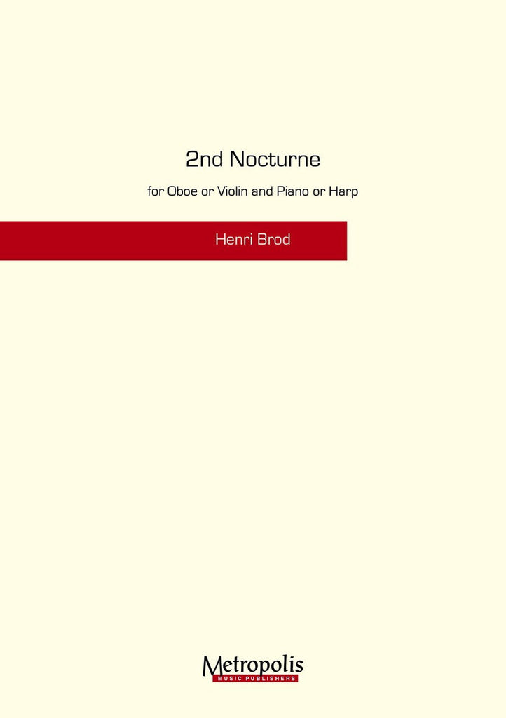 Brod - Nocturne 2 for Oboe and Piano - OP6120EM