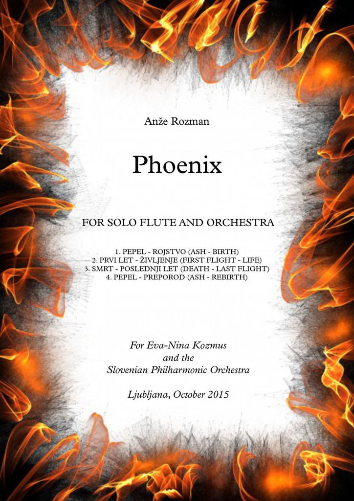 Rozman - Phoenix (Flute and Orchestra) - OR02