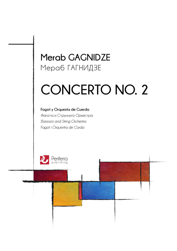 Gagnidze - Concerto No. 2 for Bassoon and String Orchestra - OR3159PM