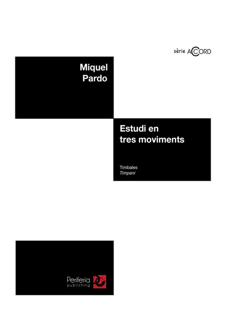 Pardo - Estudi en tres moviments for Timpani - PC3087PM
