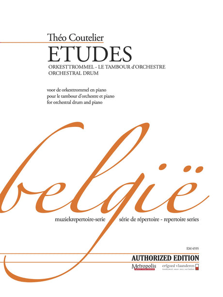 Coutelier - Etudes for Orchestral Drum and Piano - PC4555EM