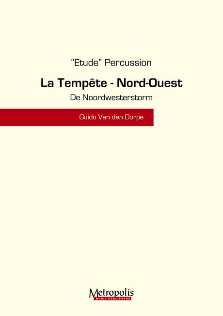 Van den Dorpe - Noordwesterstorm for Percussion Ensemble - PC6819EM