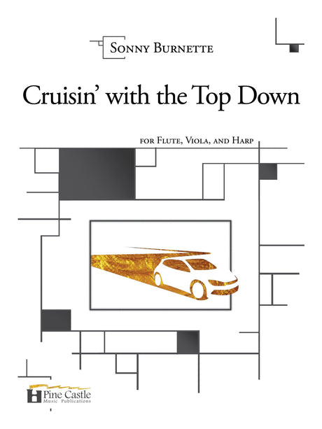 Burnette - Cruisin' with the Top Down for Flute, Viola, and Harp - PCMP115