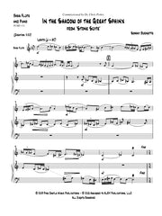 Burnette - In the Shadow of the Great Sphinx for Bass Flute and Piano - PCMP131