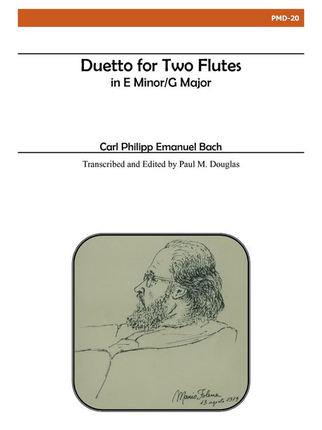 Bach - Duetto in E Minor/G Major for Two Flutes - PMD20