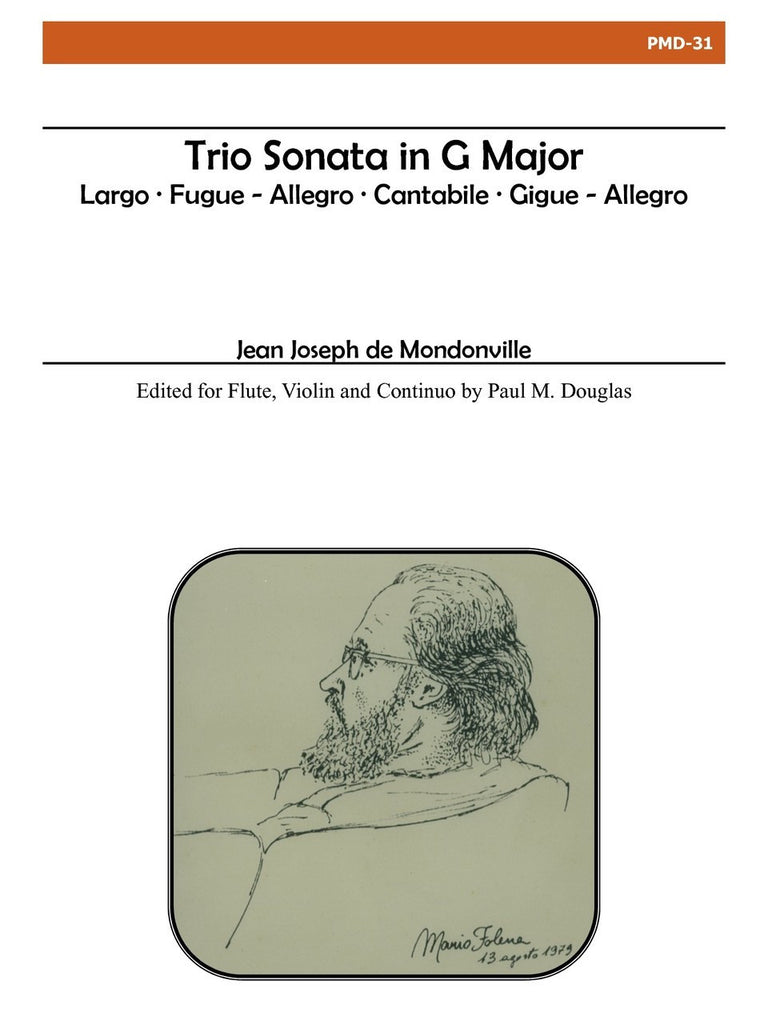 Mondonville - Trio Sonata in G Major - PMD31